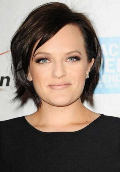 2017 Layered Short Bob Hairstyles For Round Faces Thick Hair