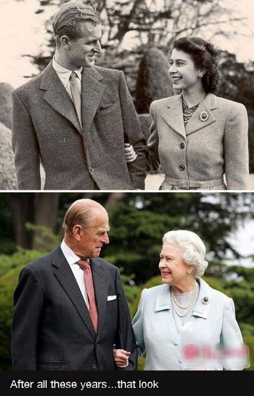 Queen Elizabeth and Prince Phillip. We love these guys because we're Monarchists :)
