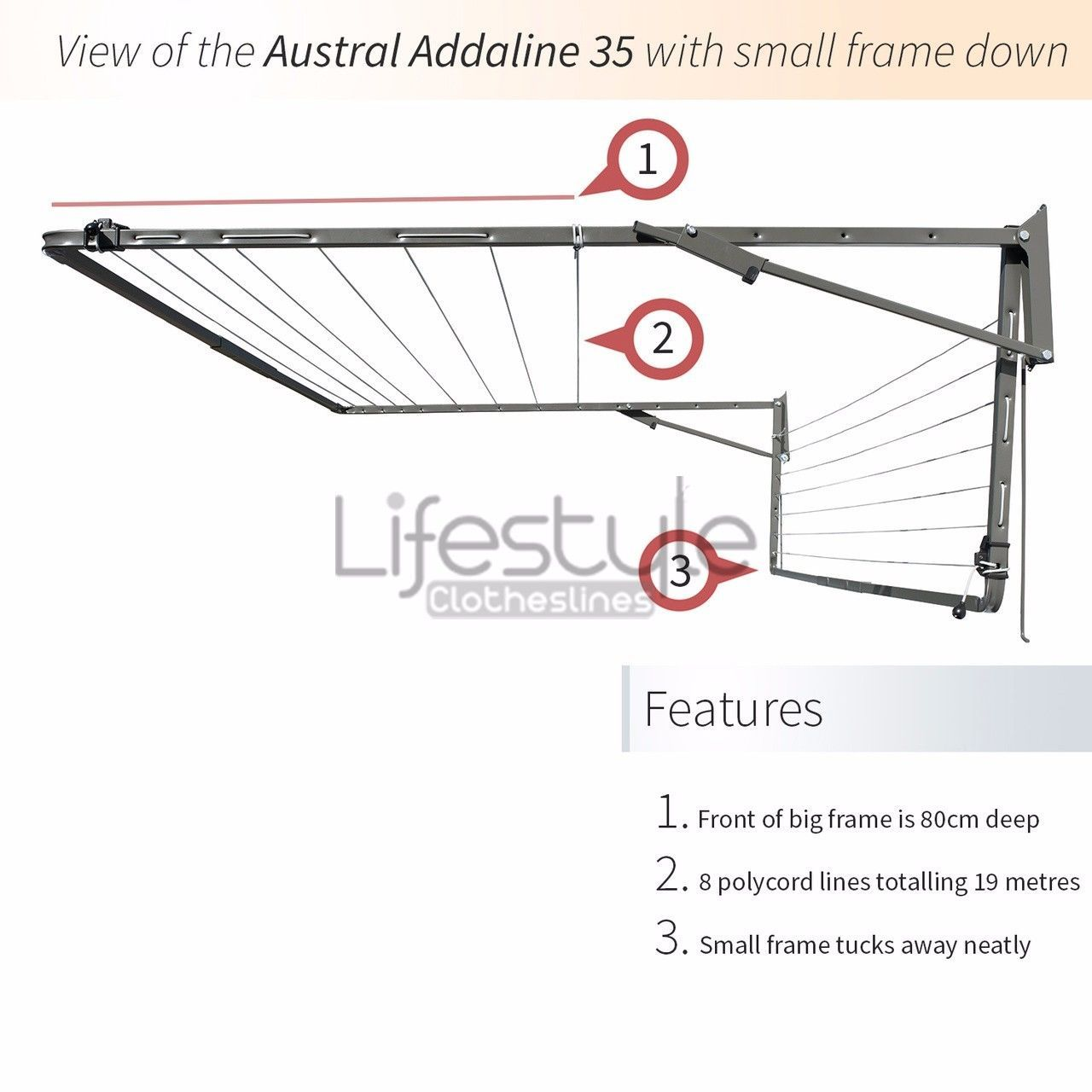 New Large Fold Down Clothesline Folding Washing Line Wall Mounted Addaline 35 Washing Line Clothes Line Wall Mount