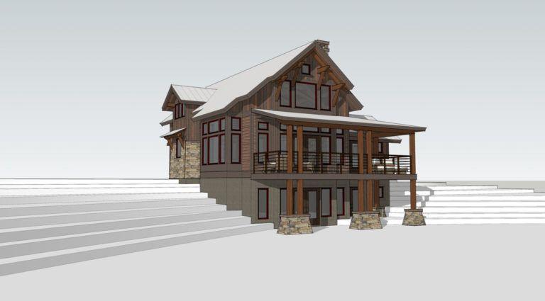 Timber Frame Home Designs Lake Cottage Timberbuilt House Design House 3d Model Lake House Plans