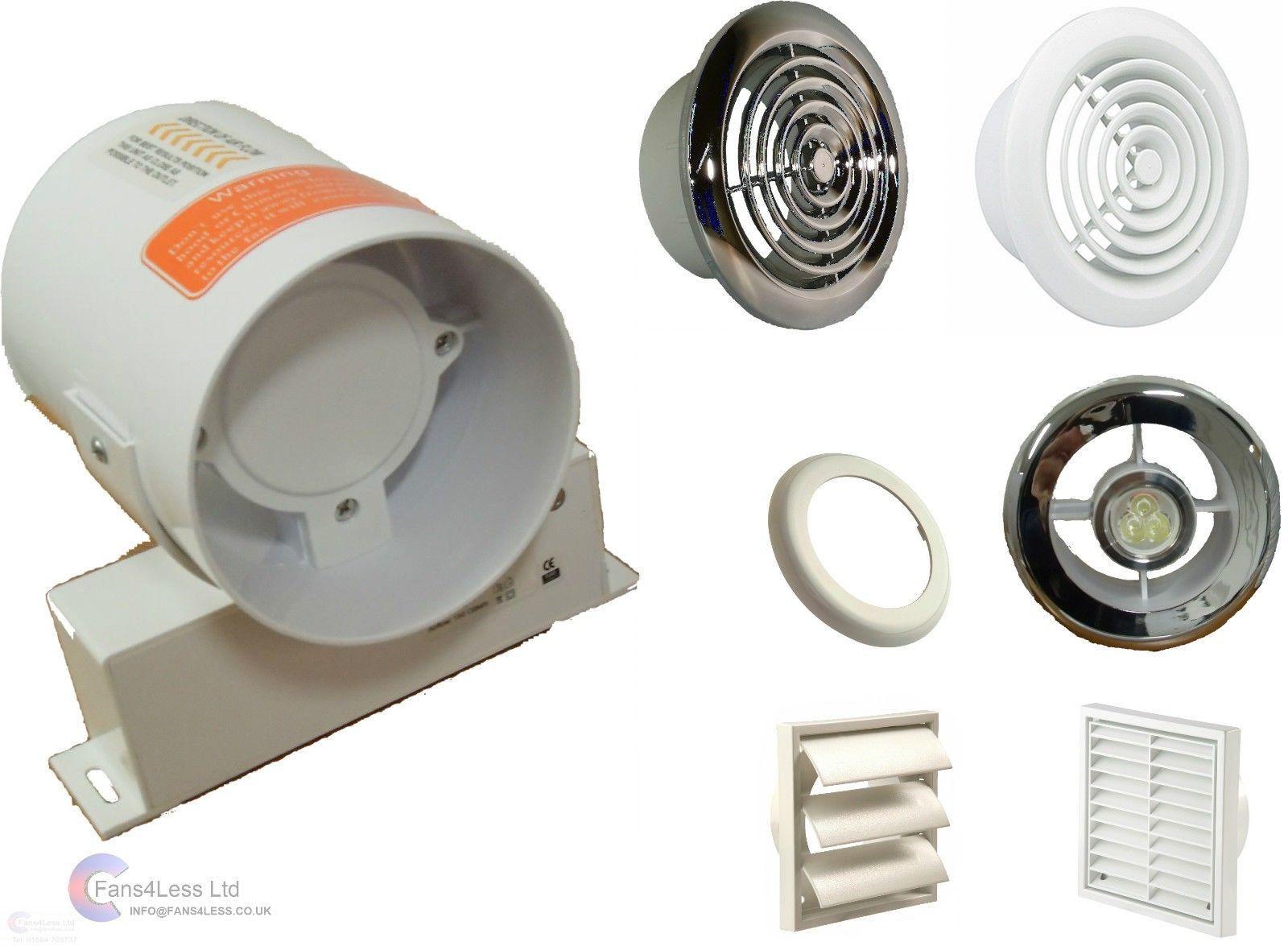 Inline Bathroom Extractor Fan Kit