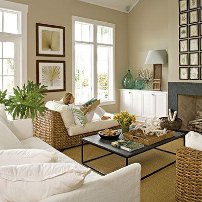 After: Easy and Casual Living Room < 10 Stylish Living Room Makeovers - Coastal Living Love the loungers.