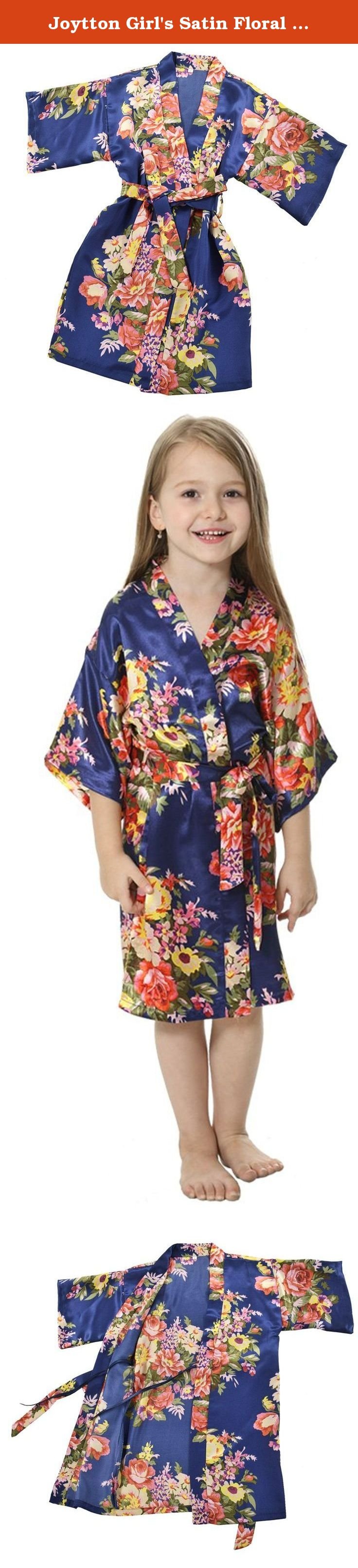3127bd5d6c4 Joytton Girl s Satin Floral Kimono Bathrobe Flower Girl Robe (6