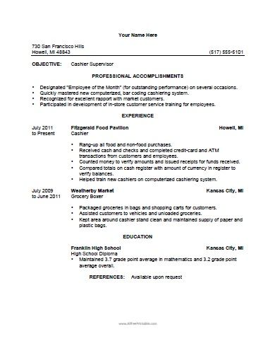 1 grocery clerk resume template