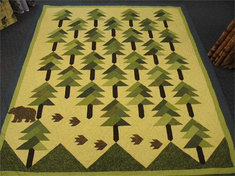 I just finished making this pattern <3 | Quilting | Pinterest ... : pine tree quilt - Adamdwight.com