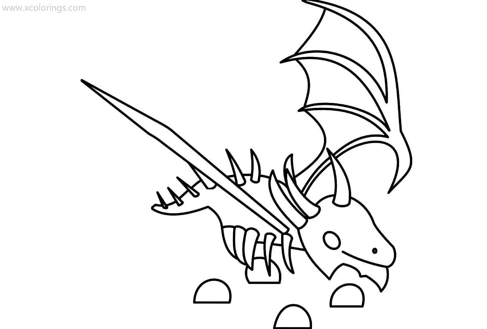 Roblox Adopt Me Coloring Pages Shadow Dragon Shadow Dragon Pets Drawing Avengers Coloring Pages