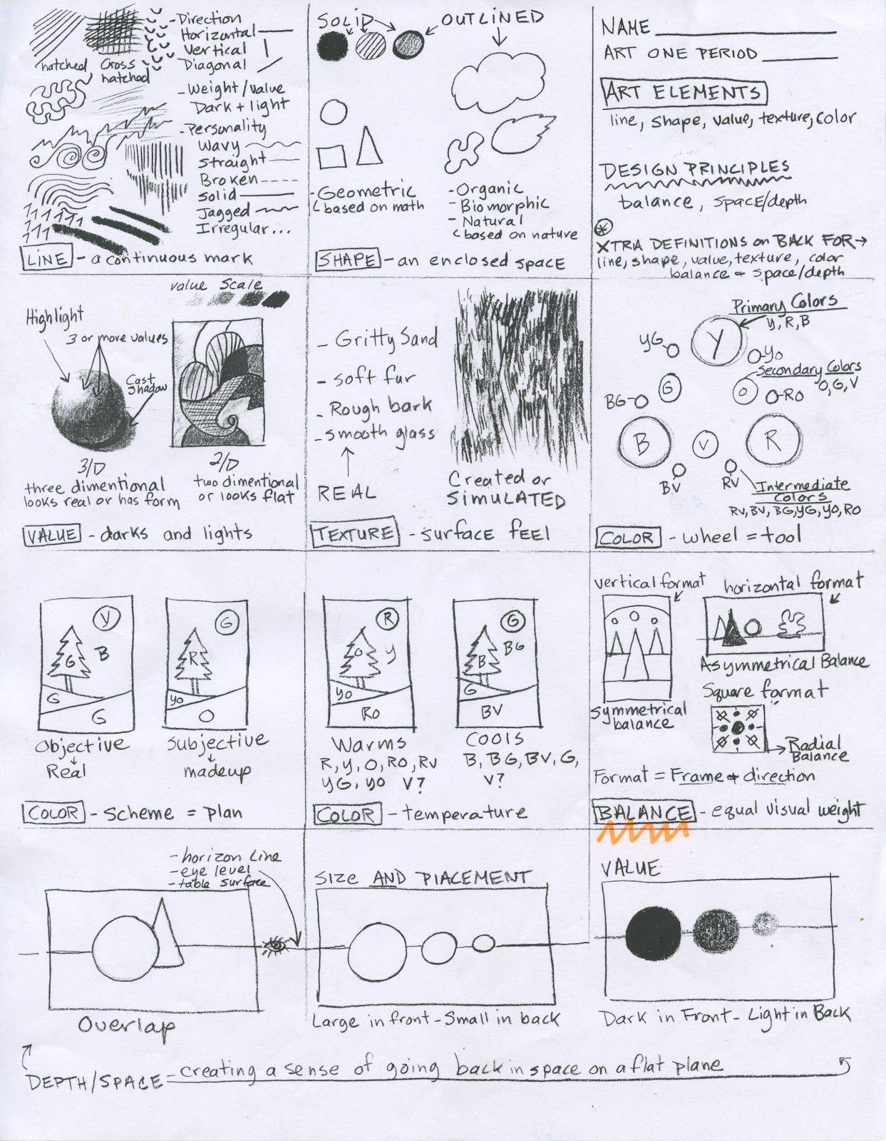 Art Handout | High school art | Pinterest | Kunstunterricht, Schule ...