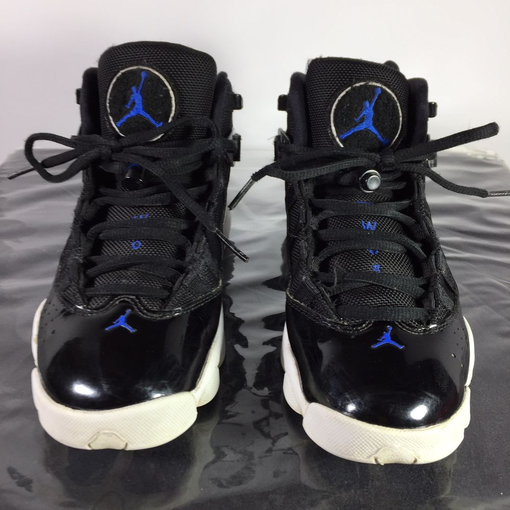 promo code 88721 e1a05 Nike Air Jordan 6 Rings Youth Size 4.5 Space Jam Black Royal ...