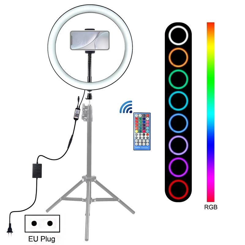 12 Inch Photography Lighting 6000 6500k Dimmable Led Selfie Ring Light Rgb Video Ring Light Vlog Tik Tok Youtube Live Streaming 2020
