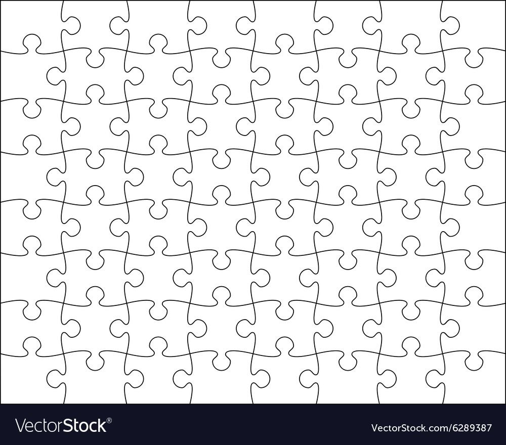 The amusing Jigsaw Puzzle Template Editable Blend