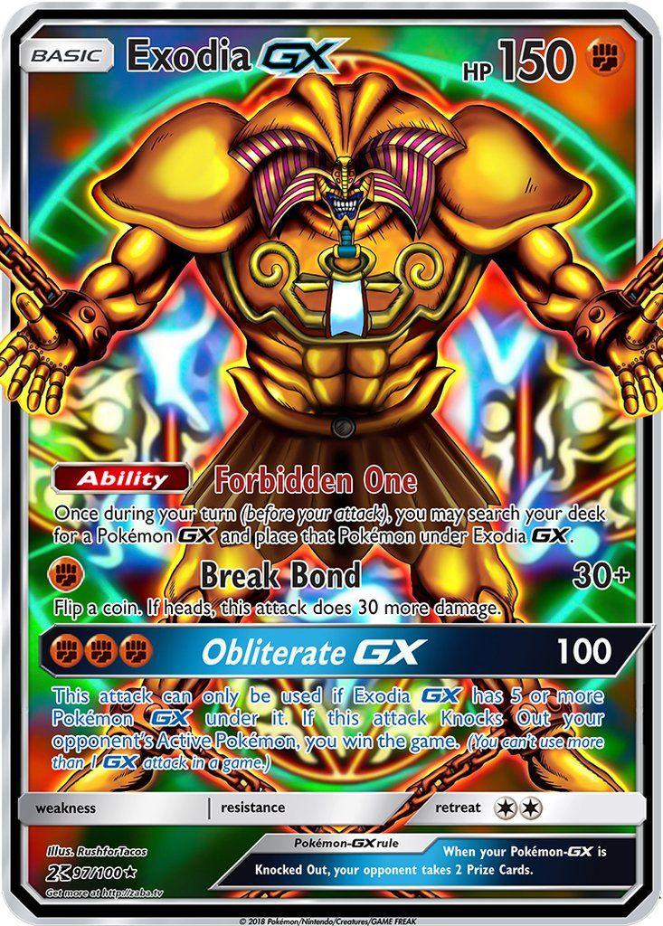 Exodia gx pokemon yugioh crossover custom pokemon