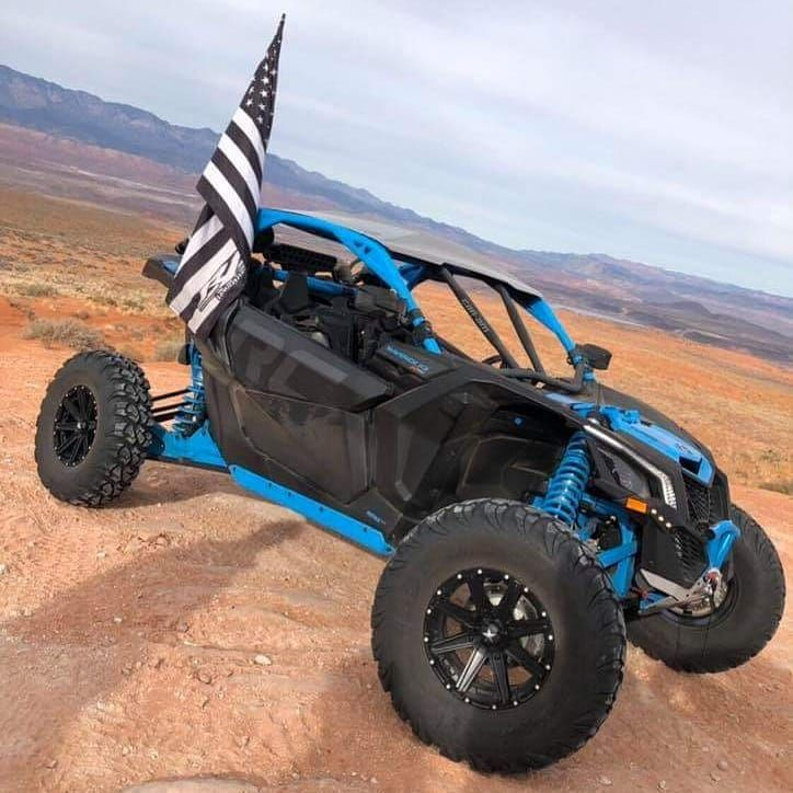 Photo R1 Industries J Kee1 Rocking Our 4 Foot Wildcat Whip With A Custom R1 Flag Utvunderground Rzr Offroad R1 Wild Cats Offroad Vehicles Offroad