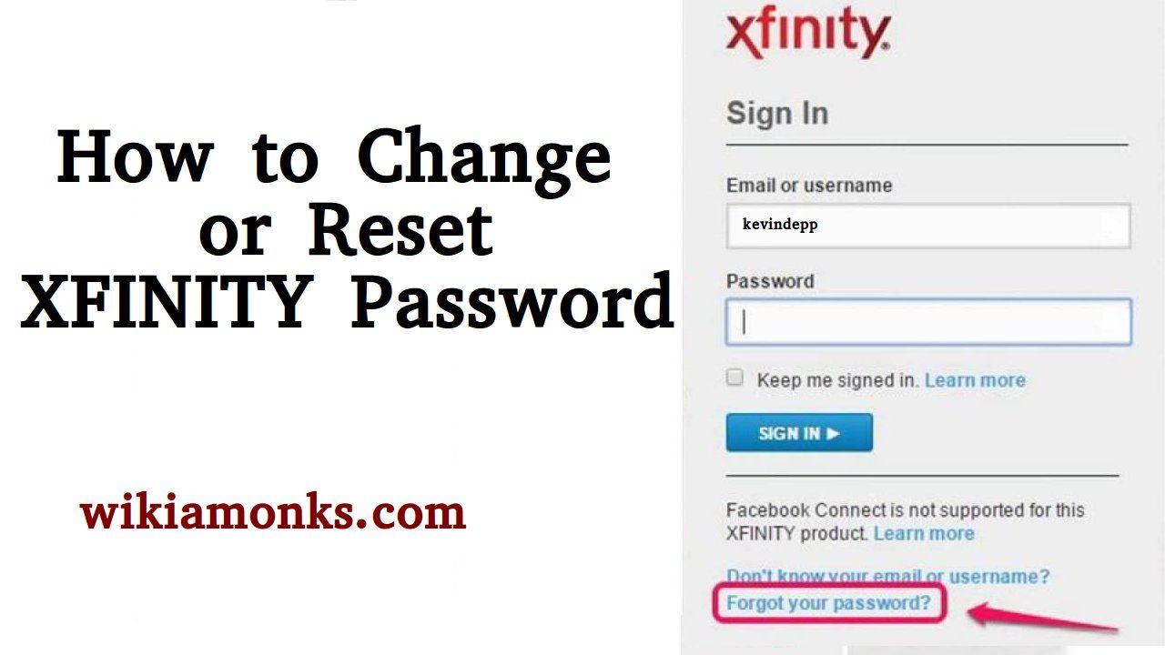 How To Change Or Reset Xfinity Password Reset Change Email Xfinity