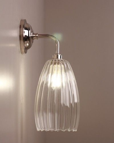 Contemporary Bathroom Wall Lights designer bathroom light, upton ribbed glass contemporary bathroom