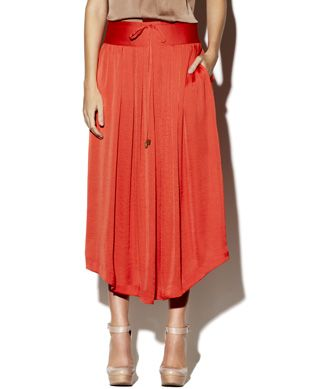 Shirttail Midi Skirt Salmon by Vince Camuto $89.00