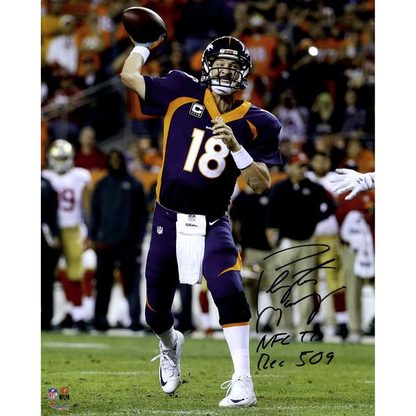 "Peyton Manning Denver Broncos Fanatics Authentic Autographed 16"" x 20"" Becomes NFL All-Time Touchdown Passing Record Leader Photograph with ""NFL TD REC 509"" Inscription - $399.99"