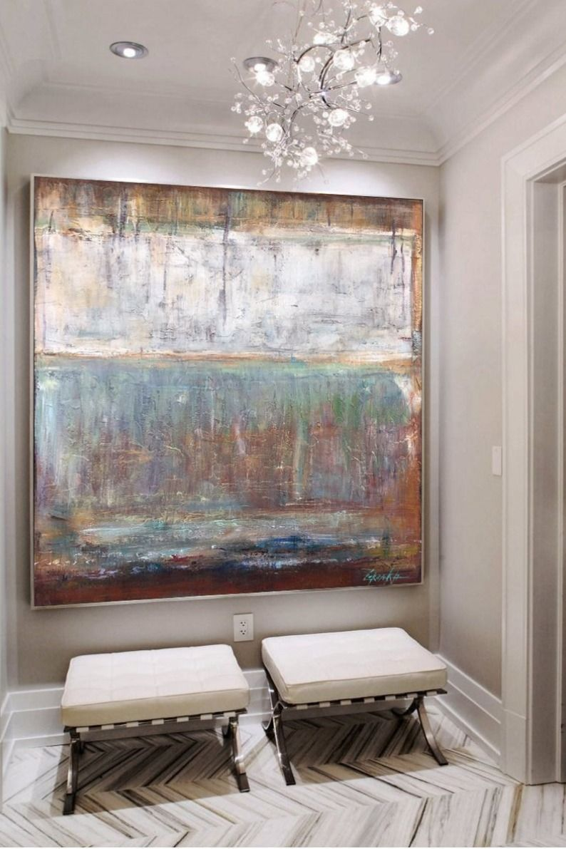 large abstract original painting beige painting brown on modern acrylic paintings for living room id=80280