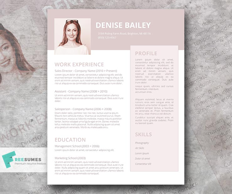 A La Mode Creative Resume Template For Women Freesumes In 2021 Creative Resume Creative Resume Templates Resume Template
