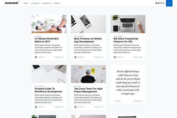 Justread - A WordPress Blog Theme by GretaThemes on @creativemarket