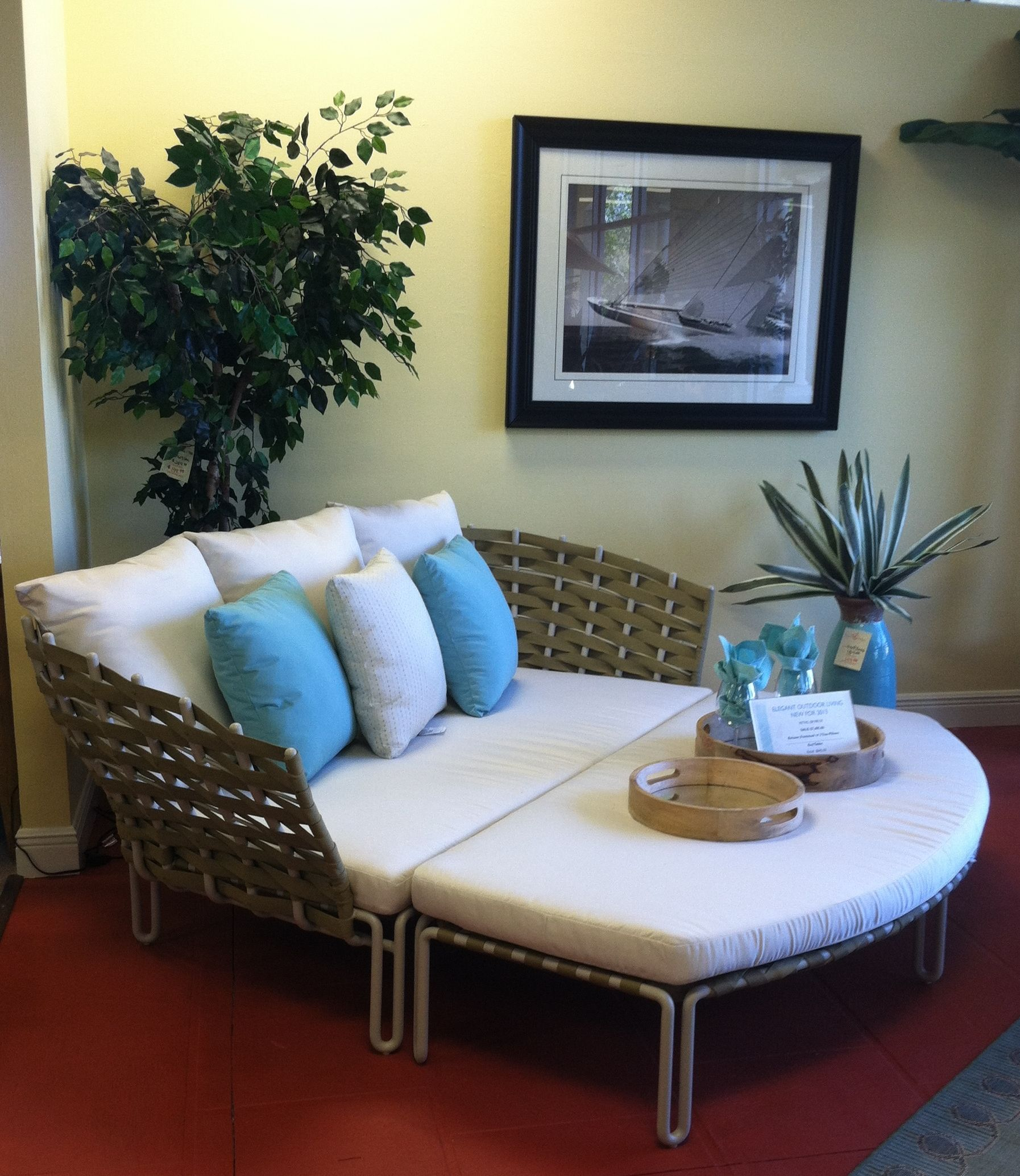 Patio Furniture Bonita Springs Fl: Gloster Source Relaxer With Footstool In Crème/Malt Frame