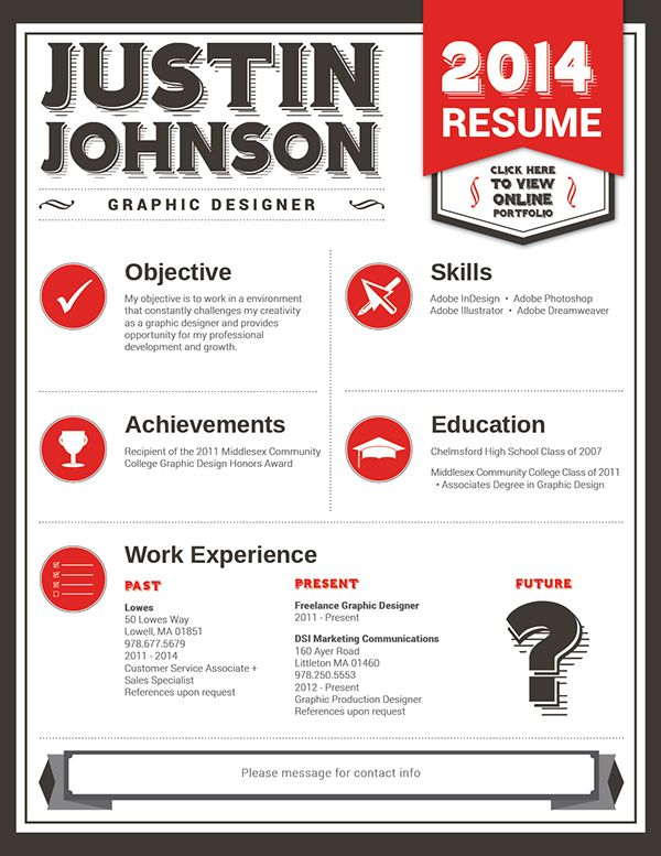 Resume Style A Great Bold Resume Format That Uses Retro Fonts And High Contrast