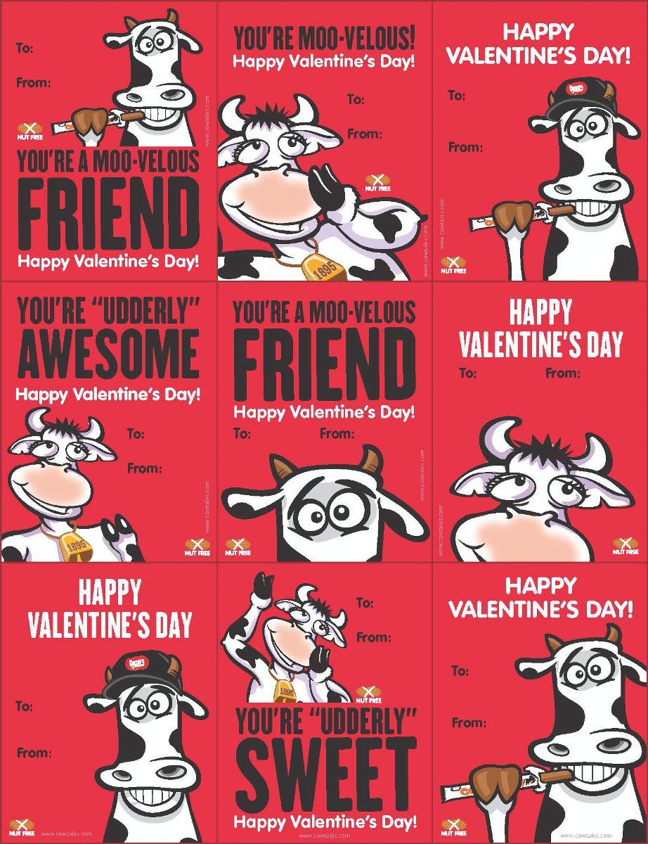 Free Valentine Printables   Goetzeu0027s Cow Tales, Punny Cows And Cow Jokes!  Cow Tales