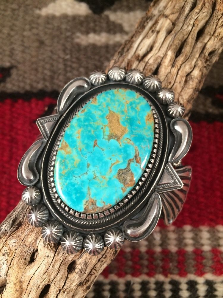 Ray Begay Vintage Navajo Turquoise And Sterling Silver Bracelet
