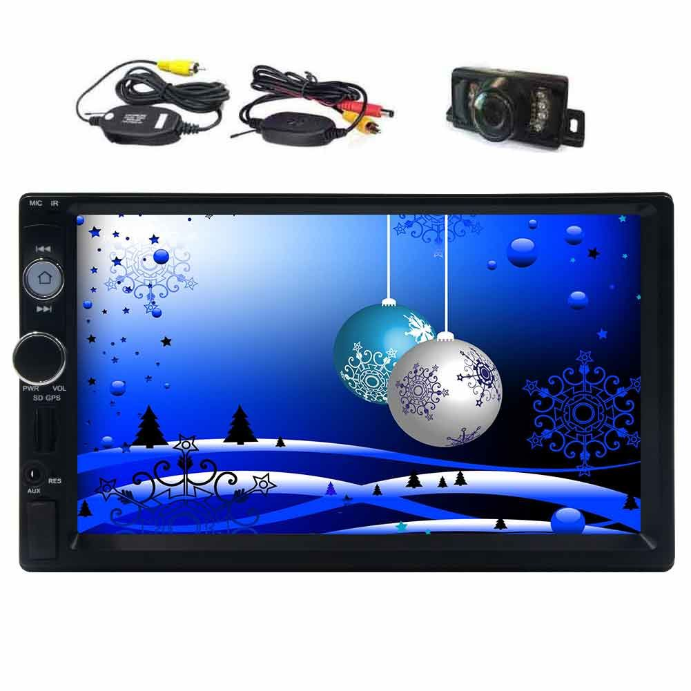 Eincar 7 inch hd touch screen bluetooth car stereo with gps navigation in dash remote control