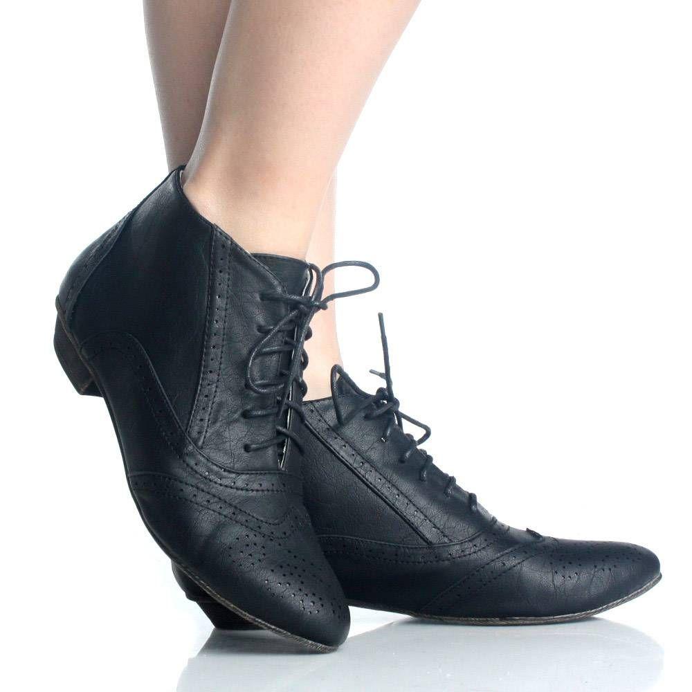 Women black lace dress shoes