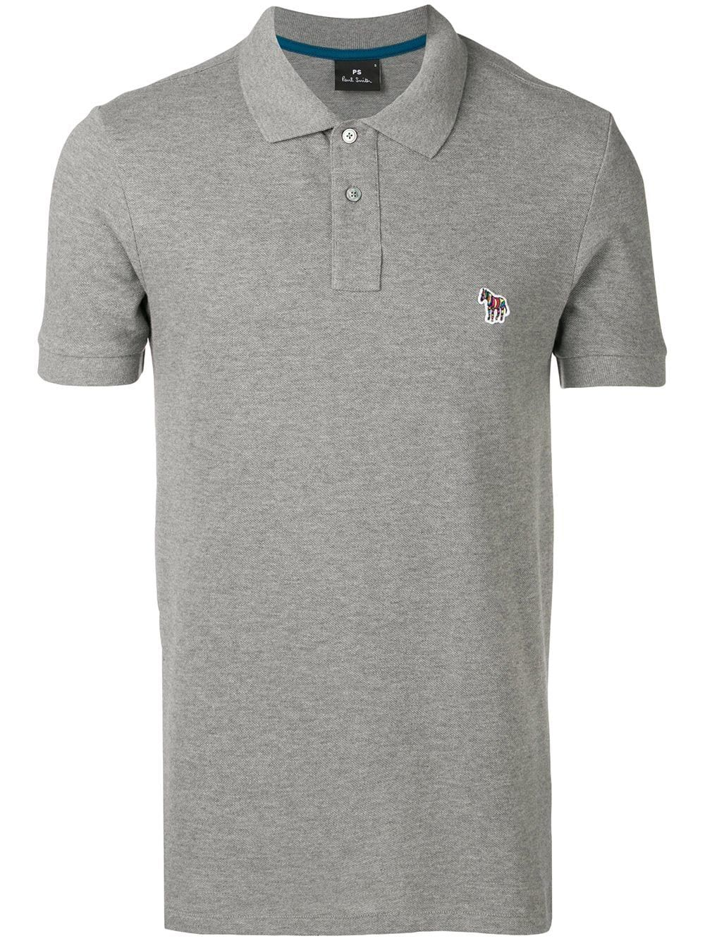 PS BY PAUL SMITH PS BY PAUL SMITH ZEBRA LOGO POLO SHIRT - GREY.   psbypaulsmith  cloth 143724f9753e