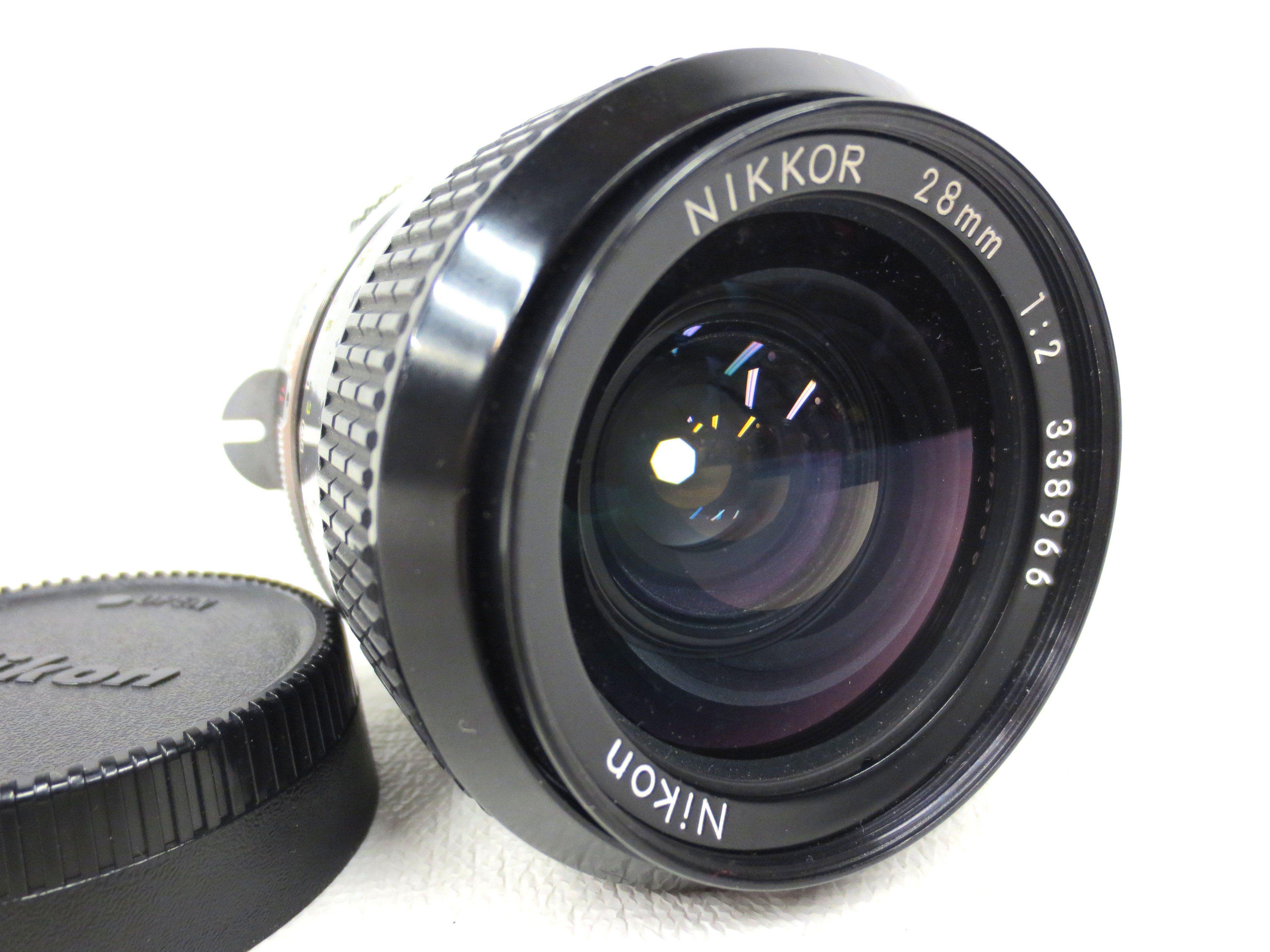Vintage Nikon Nikkor 28mm 1 2 Manual Focus Camera Lens Zoom Number 338966 Focus Camera Camera Lens Vintage Cameras