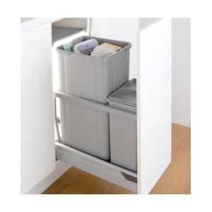 blum kitchen bins track lighting in wesco 300az pull out waste bin 36l soft close runners 36 42 litres suits tandembox