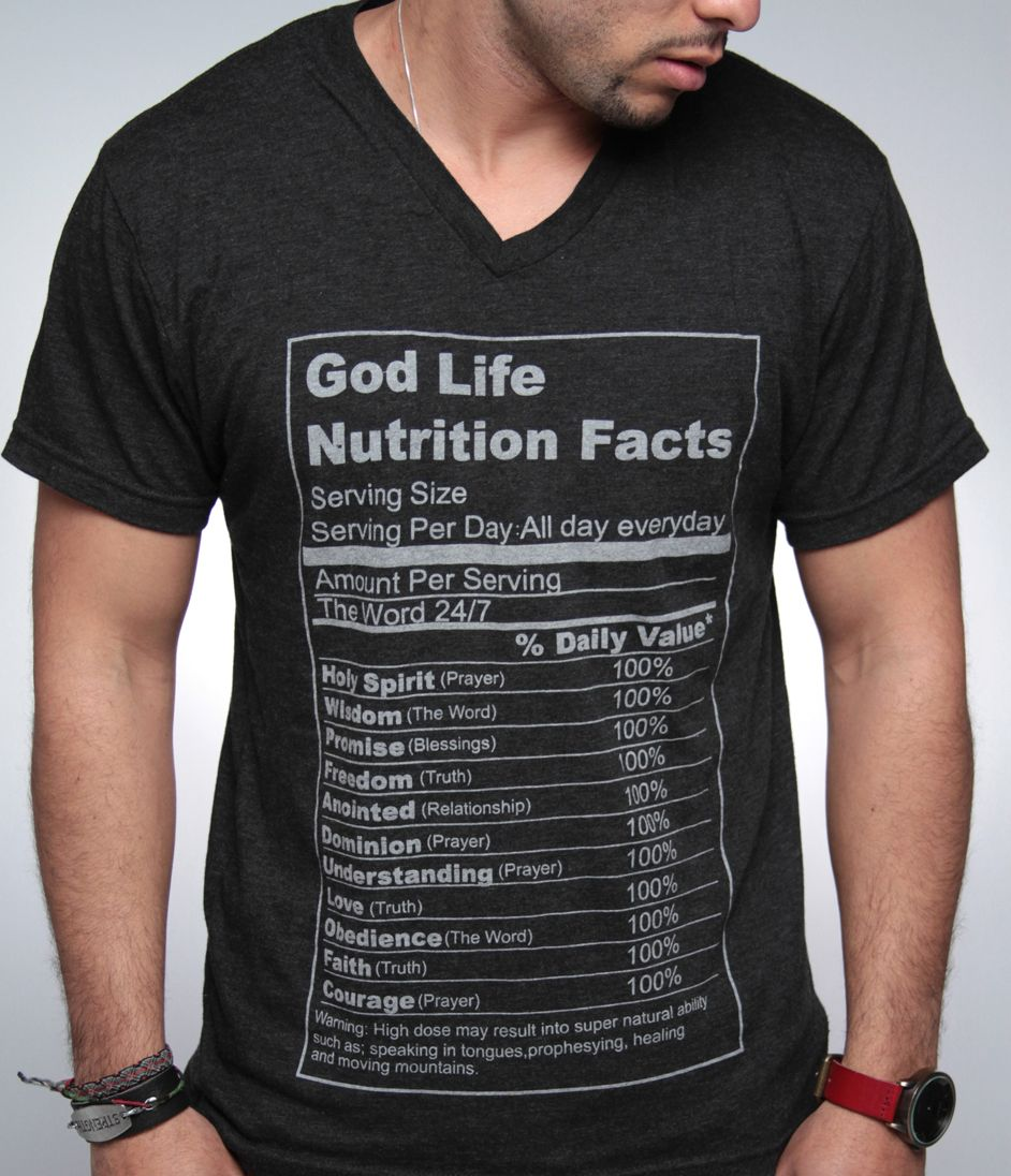 God Life Nutrition Facts Christian clothing, Nutrition