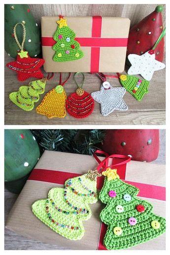 Photo of Weihnachtliche Geschenkeanhänger zum Häkeln – Häkelanleitung via Makerist.de