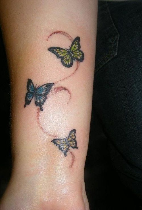 110 Small Butterfly Tattoos With Images Sister Tattoos Pinterest