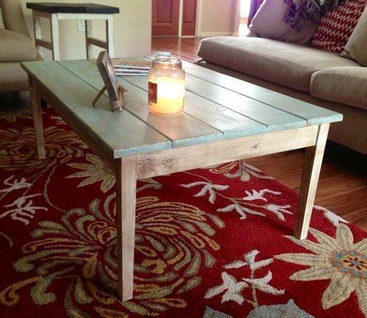 Antiqued Cottage Style Coffee Table Hogar Muebles Decoracion De Unas