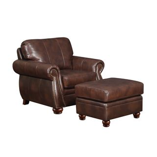 Leather Club Chairs Nebraska Furniture Mart Parsons Chair Cover Pattern At Home Designs Monterey Natural Brown | Overstock.com Shopping - The Best Deals ...