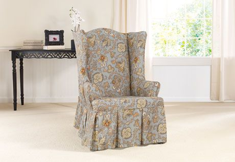 Sure Fit Slipcovers Tennyson By Waverly Wing Chair