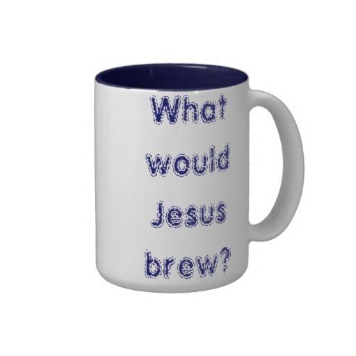 What would Jesus brew? Two-Tone Coffee Mug XXL