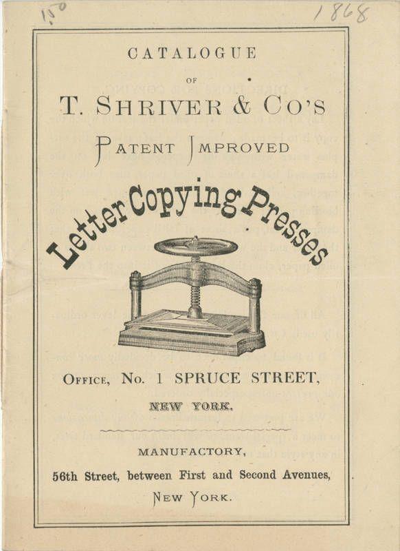 Letter Copying Presses