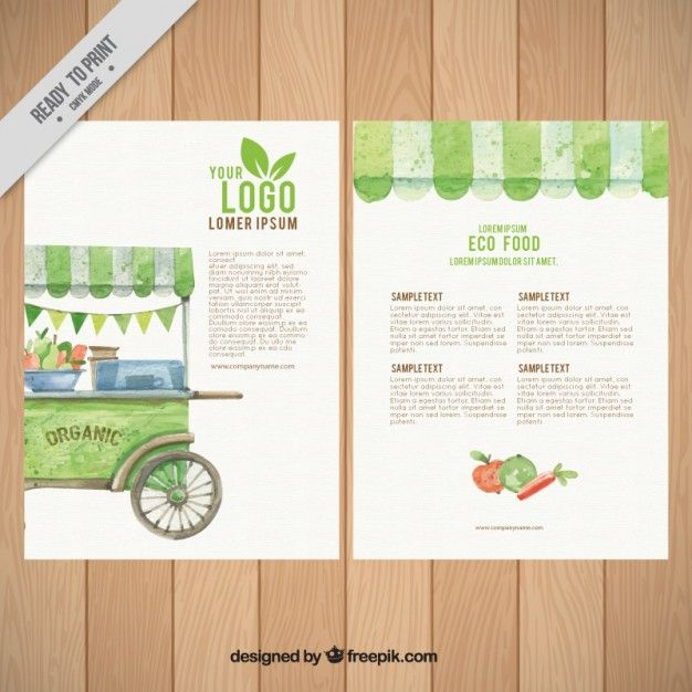 Organic food flyer template Free Vector | packing | Pinterest