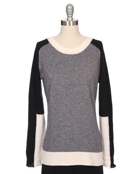 Boston Tri-Colorblock Sweater