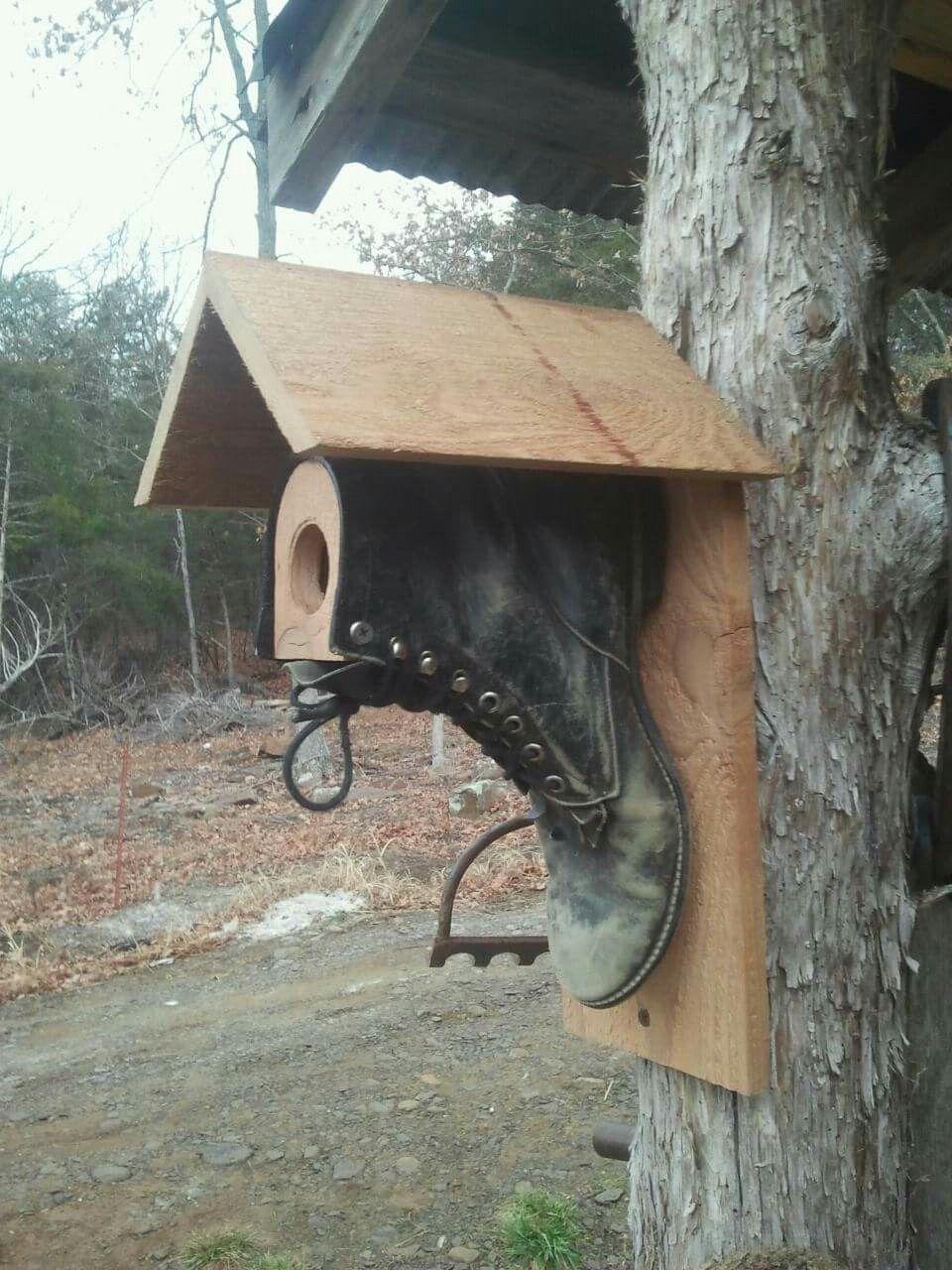 Boot birdhouse #birdhouses