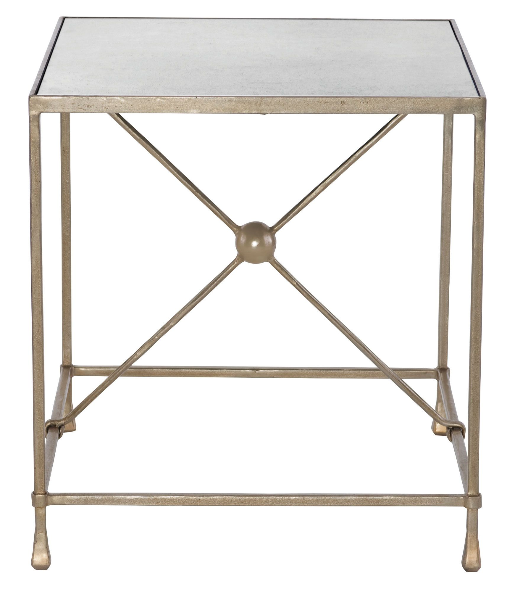 561 122 Rowley End Table Bernhardt W 24 5 D 28 H 26 Mirror Top