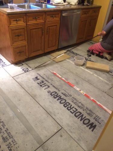 Mobile Installing Tile Floor Entry Doors With Glass Backer Board