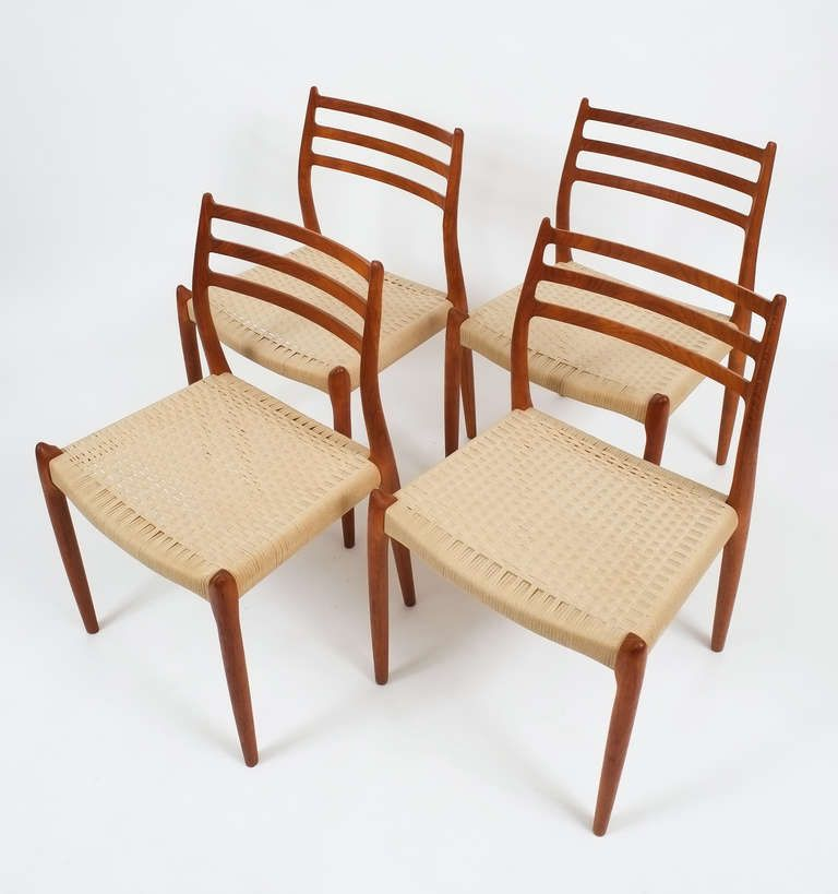 Set Of 4 Niels Otto Moller Dining Chairs Image 2