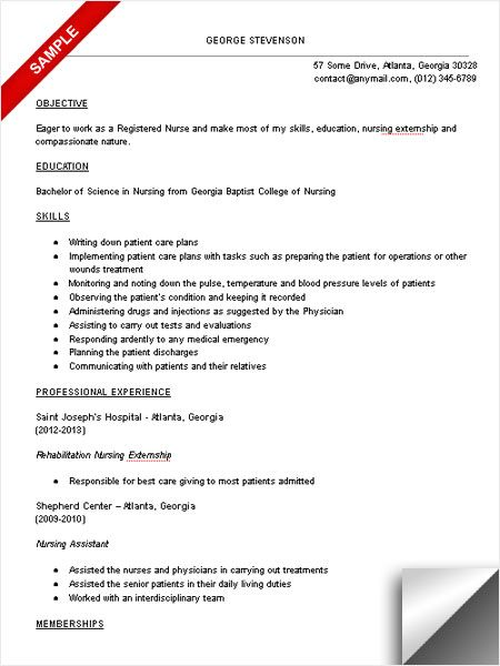 Nursing Resume Template New Grad Nurse Student
