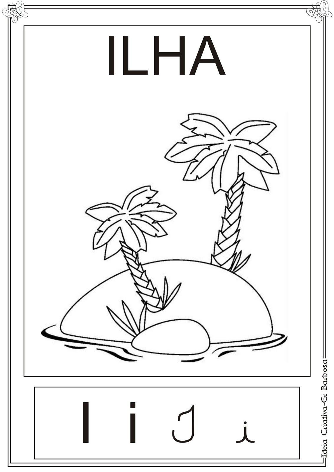 Cartazes Vogais Ilustradas Pra Colorir Com Imagens Cartaz
