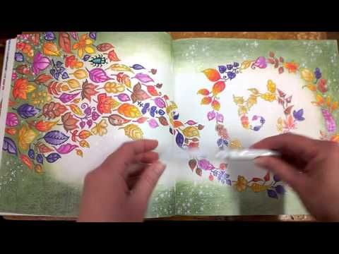 Colouring Book Enchanted Forest Walk Through With Tips And Coloured Pages