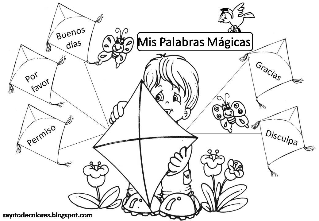 Carteles De Palabras Magicas Palabras Magicas Imagenes De Convivencia Escolar Buenos Modales